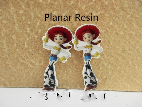 5 x 43MM JESSIE FROM TOY STORY FLAT BACK LASER CUT RESIN HEADBANDS HAIR BOWS CARD MAKING